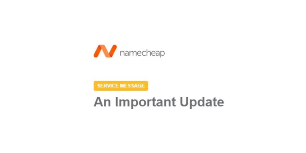 namecheap ceo message email