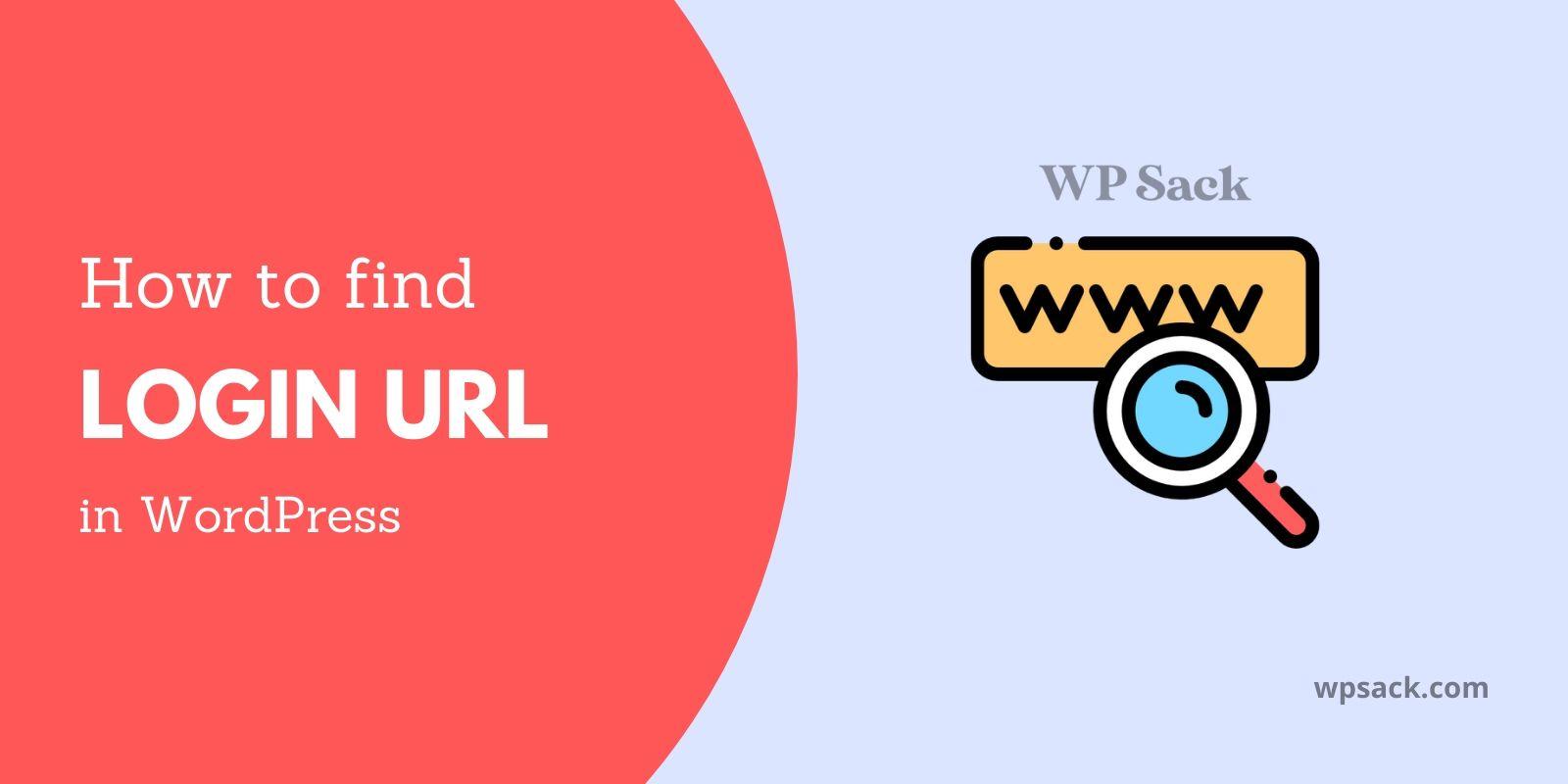Find login URL in WordPress