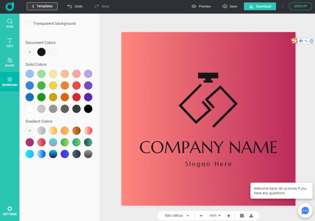 A logo design in DesignEvo