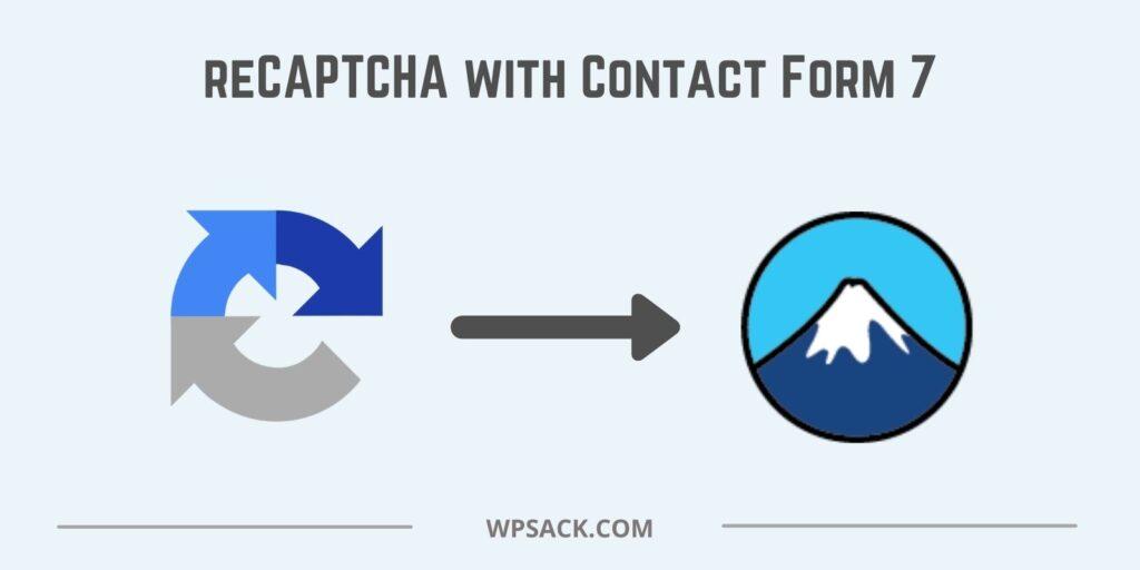 Integrate reCAPTCHA with Contact Form 7